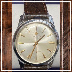 Croton Accessories - SOLD! 1950's Croton Men's Stainless Steel Watch